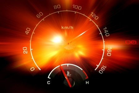 Speedometer reading rays background Stock Photo - 20853044