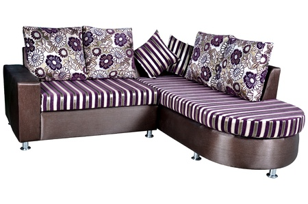 sofa bed: sofa cum bed isolated on a white background
