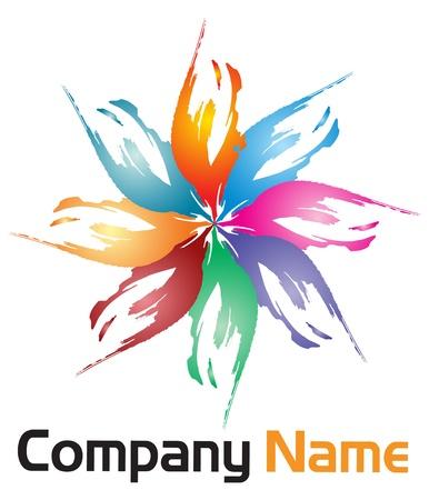 Illustration art of a corporate flower logo