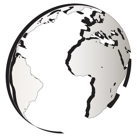 Illustration art of corporate round globe logo
