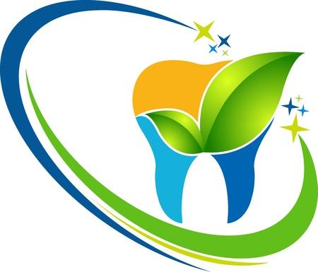 dentista: Ilustraci�n de arte de la miniatura herbal dental con fondo blanco