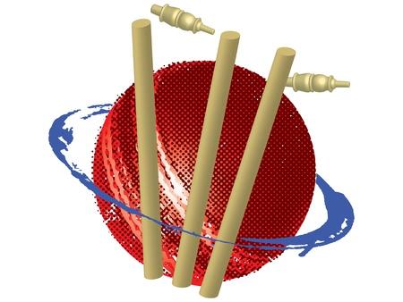 cricket stump: Illustration art of cricket symbol on isolated background Stock Photo