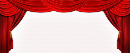 portiere: Photo design of velvet red stage screen