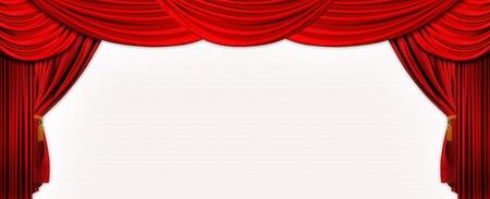 opulent: Photo design of velvet red stage screen