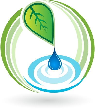 Illustration art of a water ripples thumbnail with isolated background Stock fotó - 20985510