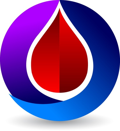 Illustration art of a blood drops logo with isolated background Vector