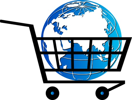 Illustration art of a purchase world with isolated background Vector