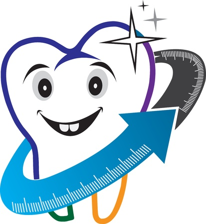 Illustration art of a dental care logo with isolated background