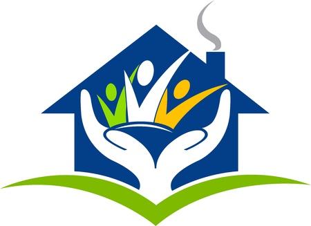 Illustration d'art d'une fiducie de maison avec fond isolé Banque d'images - 21302870