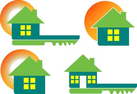 llave de sol: Arte de la ilustración de una llave de su casa con el fondo blanco