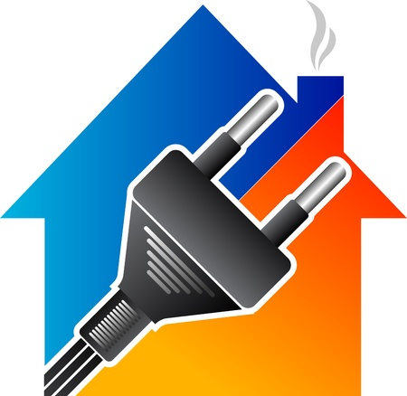 Illustration art of a home electrical plug with isolated background Stock Vector - 21423914