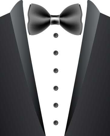 menswear: Illustration art of a tuxedo with isolated background