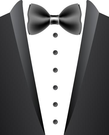 tuxedo man: Illustration art of a tuxedo with isolated background