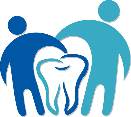 Illustration art of a dental couple logo with isolated background  Illusztráció