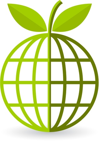 Illustration art of a globe leaf with isolated background Stock Vector - 21739291
