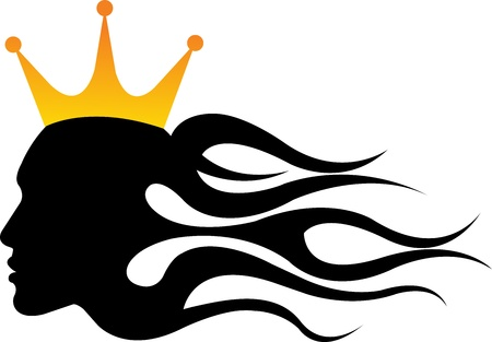beauty queen: Illustration art of a lady king crown with isolated background