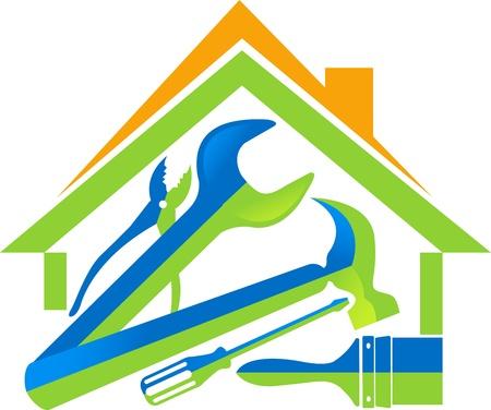 herramientas de plomeria: Arte de la ilustraci�n de una herramientas de su casa con el fondo aislado