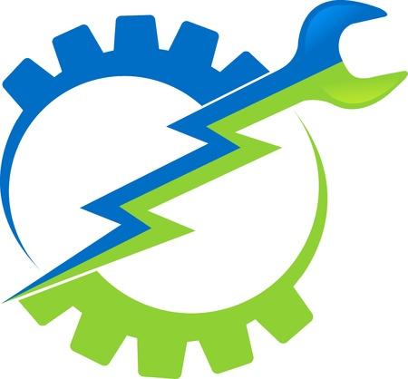 industrial mechanics: Arte de la ilustraci�n de una herramienta el�ctrica con fondo blanco