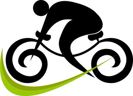 孤立した背景とサイクリングのイラスト アート  イラスト・ベクター素材