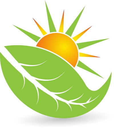 recycling logo: Illustration art of a summer leaf with isolated background Illustration