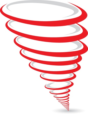 twists: Illustration art of a tornado logo with white background