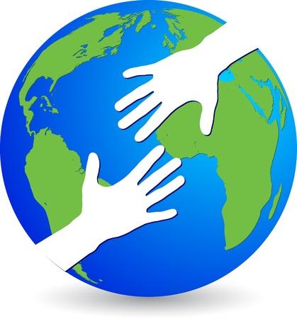 personas ayudando: Arte de la ilustración de un grupo de amigos del mundo con el fondo aislado Vectores