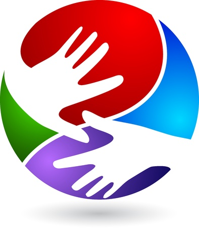 business people shaking hands: Illustration art of a hand with isolated background