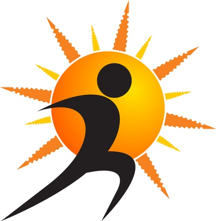 Illustration art of a sun human with isolated background Vector
