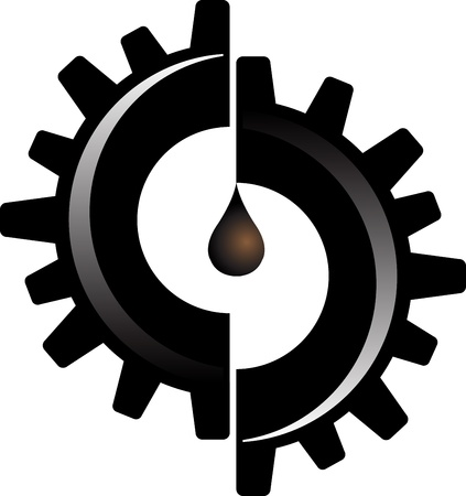 Illustration art of a gear oil with isolated background Stock Vector - 21869378