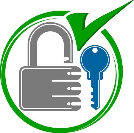 keys isolated: Illustration art of test key ok with isolated background