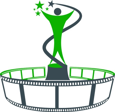 Illustration art of a film award with isolated background Illusztráció