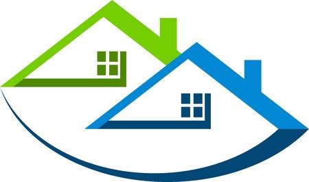 logo casa: Arte di illustrazione di un logo di casa con sfondo isolato