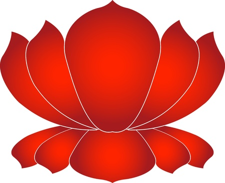 Illustration art of a lotus with isolated background Vector