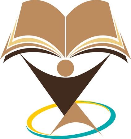 book logo: Educaci�n Arte de la ilustraci�n con el fondo aislado