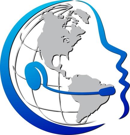 illustration art of telecommunications with isolated background