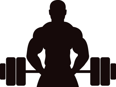 bodybuilder man: Illustration art of a gym concept man with isolated background