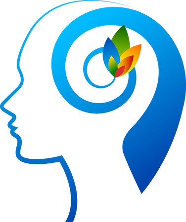 Illustration art of a mind flower with isolated background Stock Illustratie