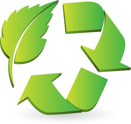 イラスト アート、エコのリサイクル分離背景とロゴ