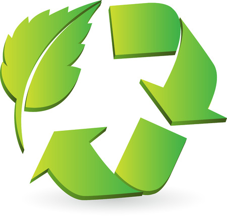 Illustration art of a Eco recycle logo with isolated background