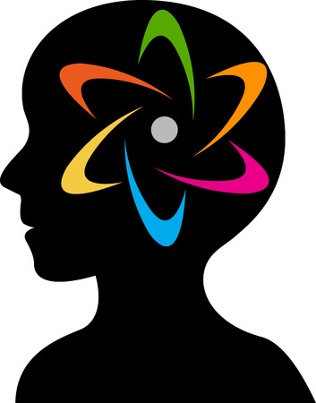 Illustration art of a brain power logo with isolated background Stock Vector - 24058708