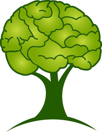 Illustration art of a brain tree  Vector
