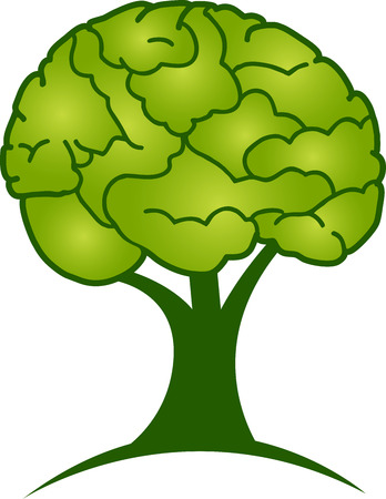 grow: Illustration art of a brain tree