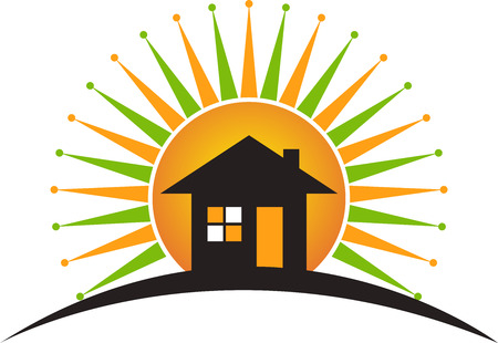 Illustration art of a power home logo with isolated background Vector