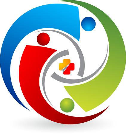 centre d affaires: L'art Illustration d'un logo de la communication avec le fond d'isolement