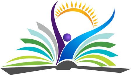 Illustration art of a bright education   Vector