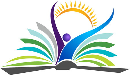 academic symbol: Illustration art of a bright education