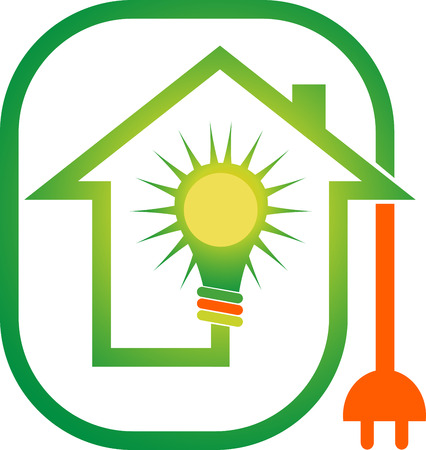Illustration art of a power home l  Vector