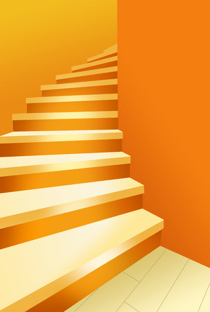 3d design of a golden steps to success with isolated background Stock fotó