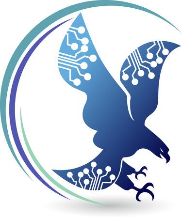 Illustration Kunst eines Kreis Adler-Logo mit isolierten Hintergrund Standard-Bild - 28433375