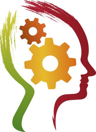 prodigy: illustrazione arte della mente attrezzi con sfondo isolato Vettoriali